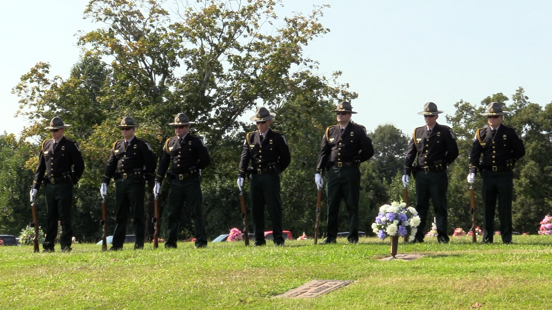 Honor Guard at a graveside service.