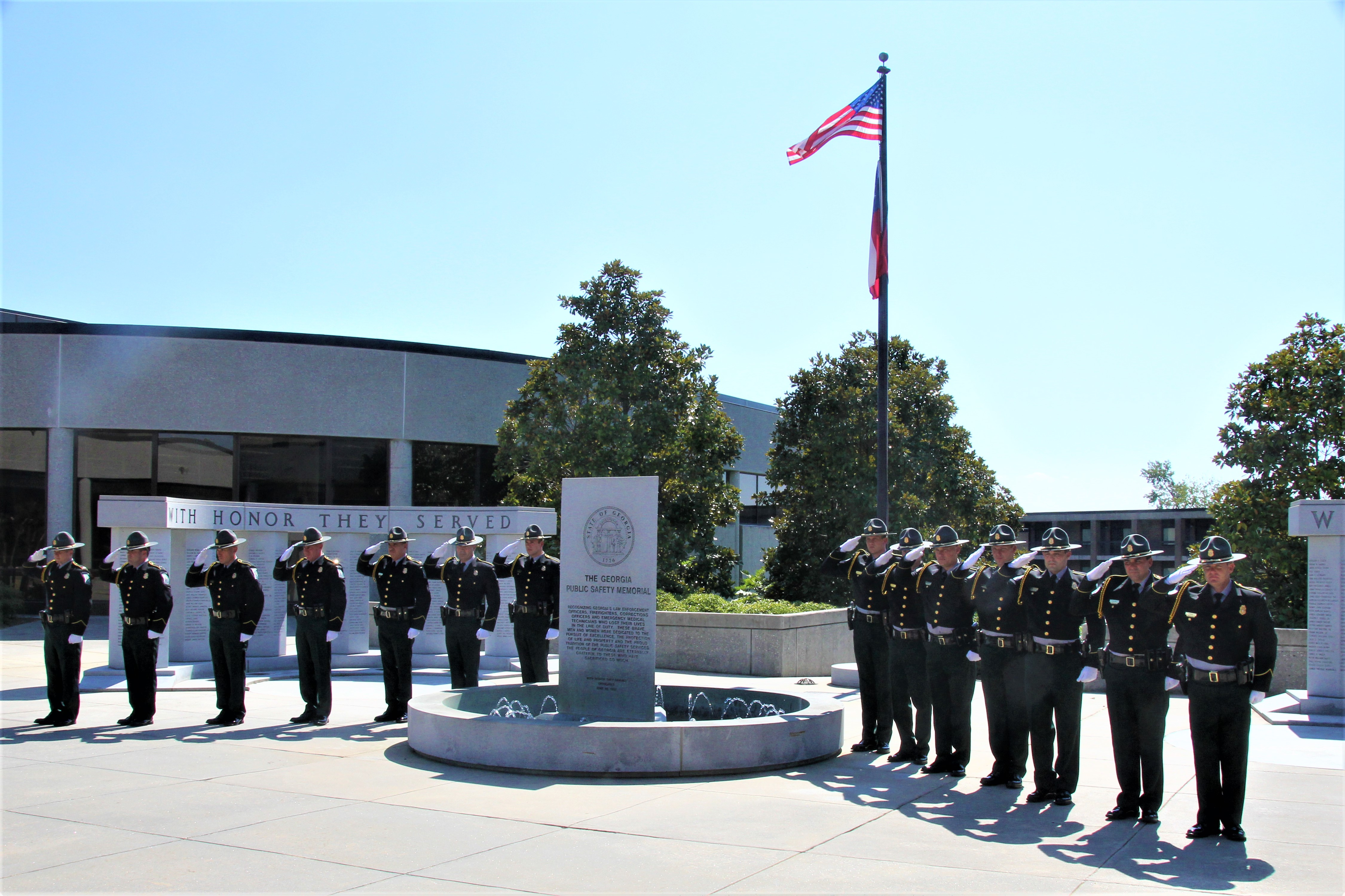 Honor Guard at the GPSTC Fallen Officers Memorial