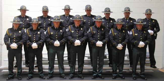 Image of twelve members of the Honor Guard