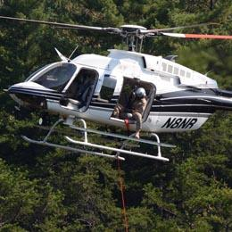 Image if a helicopter from the Law Enforcement Aviation Unit