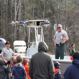 Game Wardens conducting boater education class