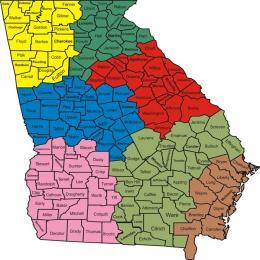 Map of the Seven Law Enforcement Regions