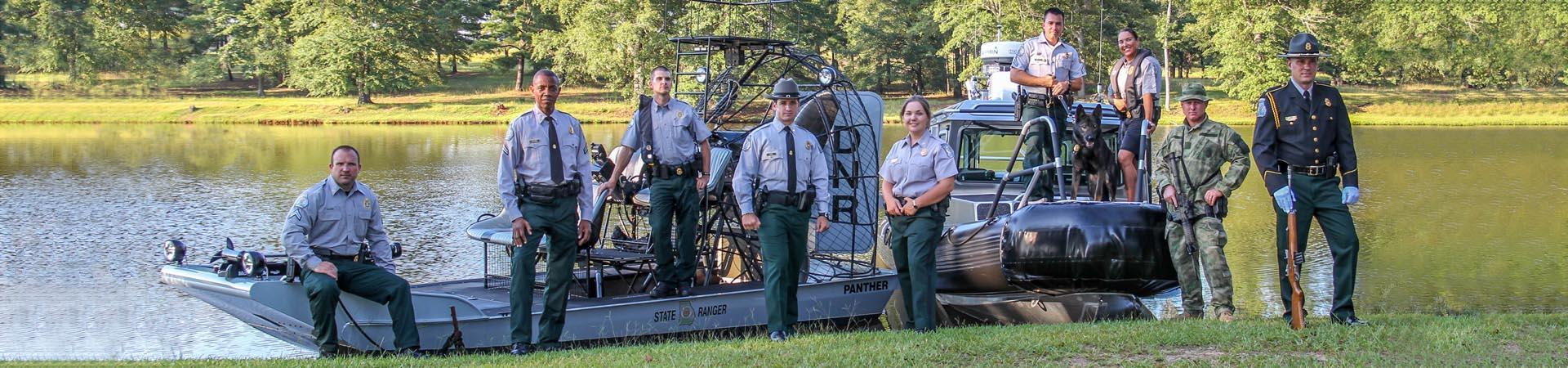 Law Enforcement Rangers, various specialties