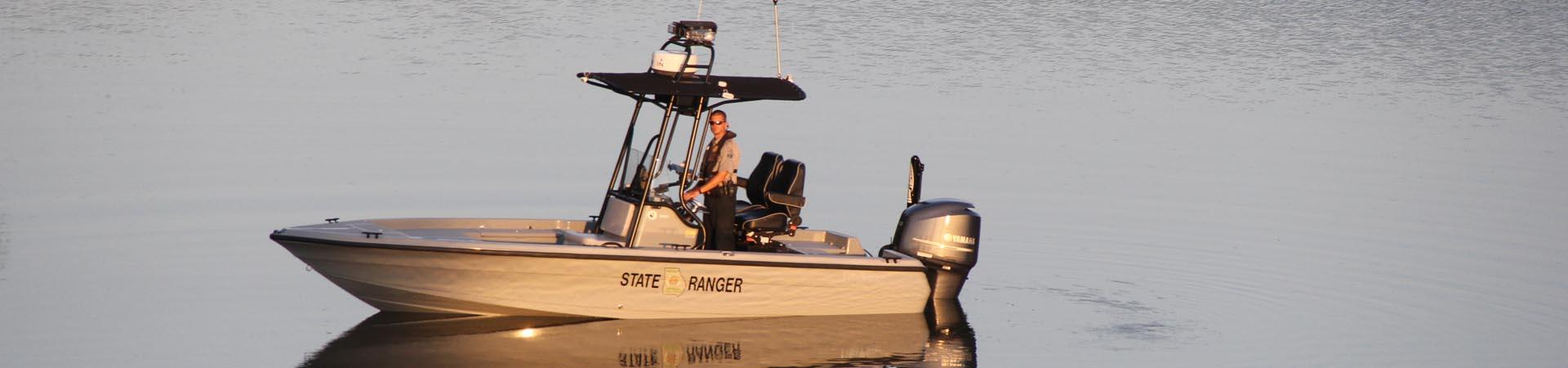 Boat patrol on Georgia waterways